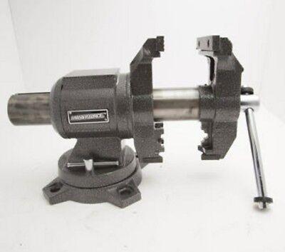 3960lb 5 Workshop Rotating Head Bench Vise Swivel Anvil Steel Jaws Shop Clamp