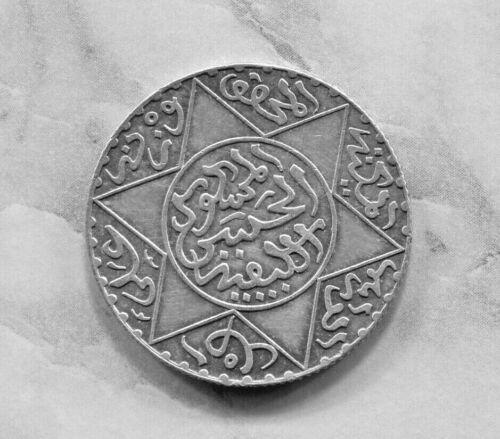 MOROCCO - BEAUTIFUL MOULAY AL-HASAN I, SILVER 2 1/2 DIRHAMS, AH 1299 (1882) Y# 6