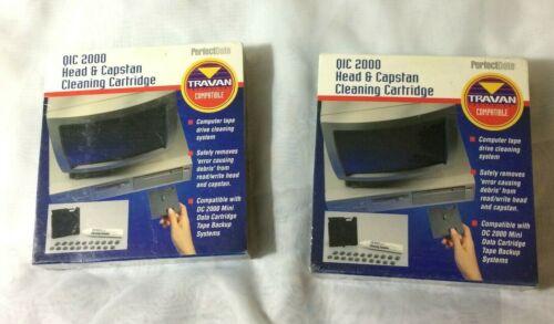 (2) PerfectData QIC 2000 Head & Capstan Cleaning Cartridge New