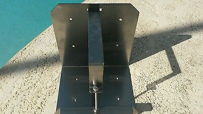 Yamaha outboard stainless steel oil tank bracket.
