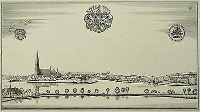 ALEXANDER FRIEDRICH - Schleswig - Kupferstich 1920