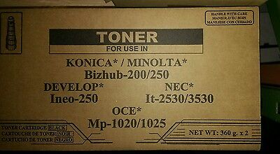 2pc Pack Konica Minolta 8938413 Tn211 Bizhub 200 222 250 282 Etc Made In Us