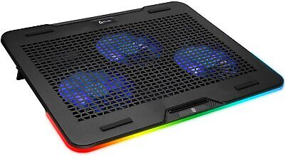 "KLIM Aurora Laptop Cooling Pad Stand, RGB, Aluminum, 11""-17"" Notebooks (NEW)"