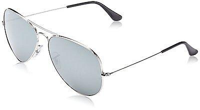 Ray Ban Sonnenbrille Aviator RB3025 003/40 62mm Silber W / Silber Spiegel