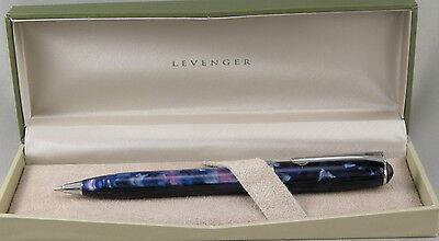 Levenger True Writer Starry Night Blue & Chrome .7mm Pencil - New In Box