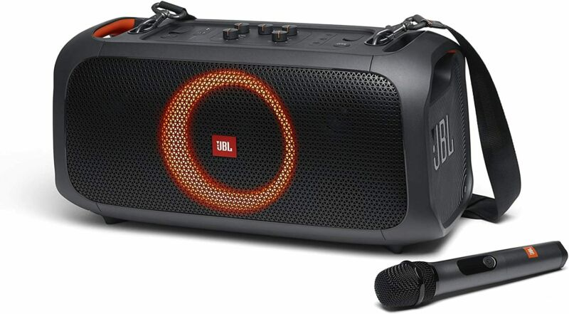 JBL PartyBox On-The-Go Portable Karaoke Party Speaker with Built-in Lights-Black