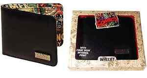 *NEW* MARVEL COMIC STRIP INSIDE PRINT WALLET IN PRESENTATION GIFT BOX ( BLACK )