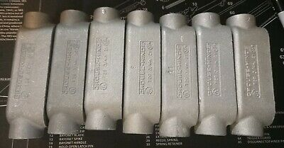 Crouse Hinds T29 34 Condulet Conduit Outlet Body Lot Of 7