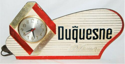 Vintage Duquesne Pilsner (Working) Clock - Duquesne Brewing Co Pittsburgh, Penna