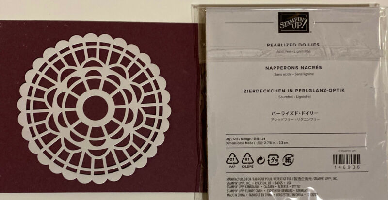 Stampin' Up!  PEARLIZED DOILIES