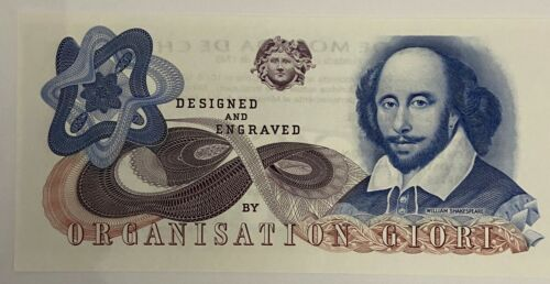 Chile Test banknote Shakespeare UNC