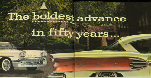1958 PONTIAC SALES BROCHURE  -- LARGE CATALOG STYLE BOOK