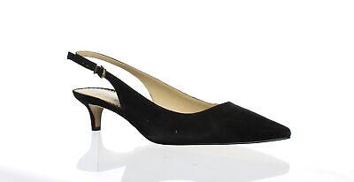 Sam Edelman Womens Ludlow Black Suede Slingbacks Size 8 (864631)