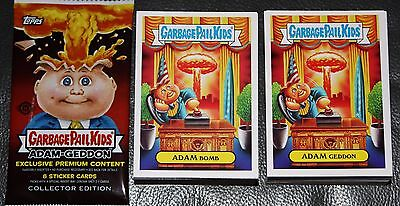 2017 GARBAGE PAIL KIDS ADAM GEDDON COMPLETE SET 180 CARDS + WRAPPER TRUMP GPK