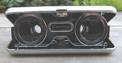 Vintage Sports Glasses Binoculars, Crystal Lens 2.5x Carton brand, made In Japan