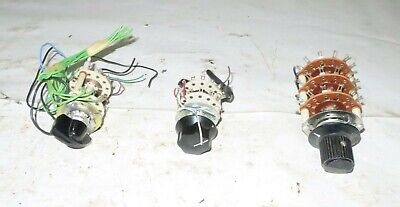 Lot Of 3 Lab Dial Switches Test Equipment