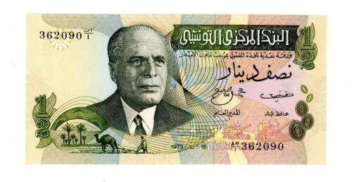 Tunisia ... P-69r ... 1/2 Dinar ... 1973 ... *UNC* ... Replacement