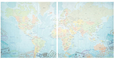 Western   Eastern Hemisphere 12X12 Scrapbooking  2 Pcs Paper