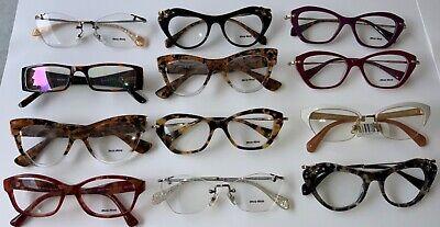 MIU MIU Mixed Eyeglasses Eye Glasses Frame Dealer Bulk Lot New (12) Total A