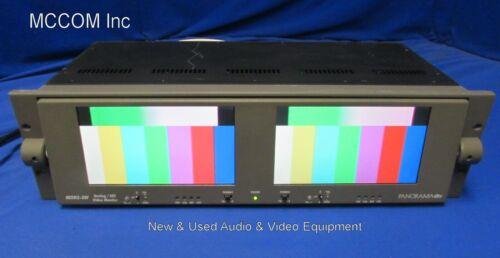"Panorama MON2-3W Dual 7"" Widescreen Analog/ SDI LCD Monitor"
