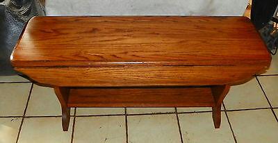 Solid Oak Drop Leaf Coffee Table  - Drop Leaf Coffee Table
