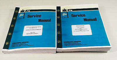International Td14 Td18 Td20 Diesel Engine Crawler Tractor Service Manual Set