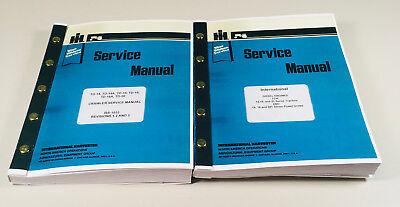 International Td14 Td18 Td20 Crawler Tractor Service Manual Dozer Loader Set