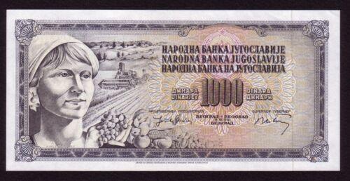 YUGOSLAVIA 1000 Dinara 1974 - WITHOUT SERIAL NUMBER UNC