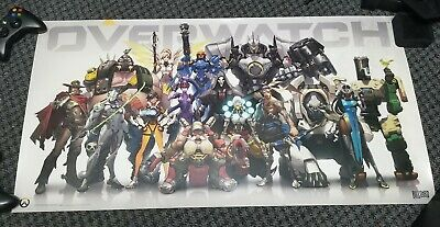 BLIZZARD OVERWATCH - ANNIVERSARY CHARACTER LINEUP POSTER - 2014