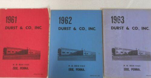 Vintage Durst & Co. Pipe Organ Supply Catalog Set of 3