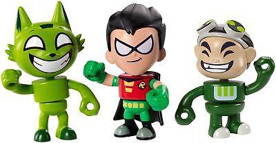 Teen Titans Go Figures Toys - Gizmo, Kitten Beastboy & Robin 3-Pack Mini