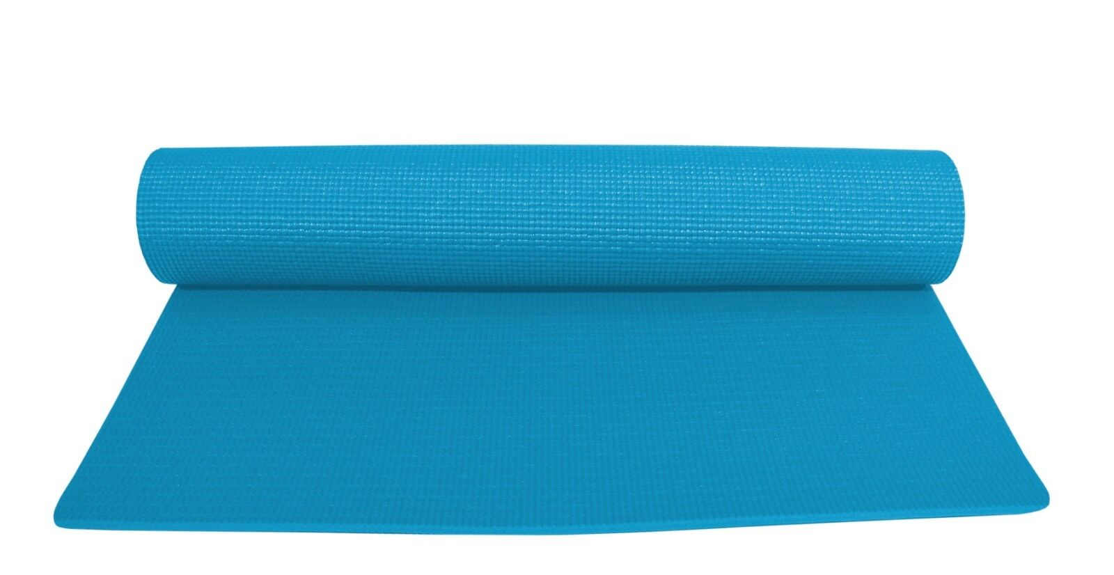 yoga mat blue deluxe 1 4 inch