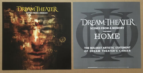DREAM THEATER Rare 1999 SET of 2 DOUBLE SIDED PROMO POSTER FLAT for Scenes CD