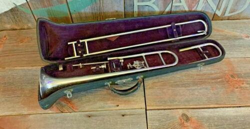The Buescher Grand Tenor Trombone Satin Silver & Gold Wash