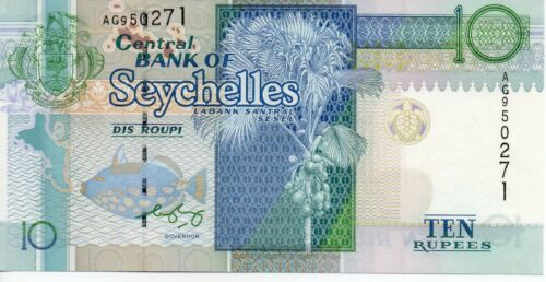 Seychelles 10 Rupees Banknote