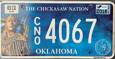 USA Nummernschild - OKLAHOMA CHICKASAW NATION TRIBE INDIANER  - US Kennzeichen