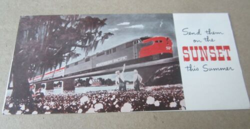 Old Vintage 1959 - S.P. RAILROAD - SUNSET TRAIN - Advertising Brochure - SUMMER
