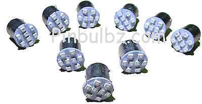 "Pinball LED bulbs 25pcs WARM WHITE #89 FLASHER ""Ultra Bright"" 8LED bayonet 8smd"