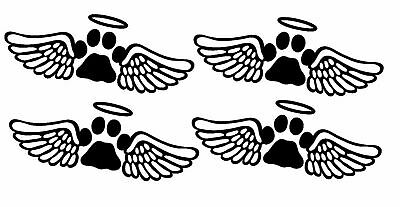 ANIMAL MEMORIAL PAW PRINT VINYL STICKER FOR GLASS,WOOD,CARDS AND MORE X 4 Animal Print Sticker