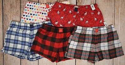 NWT Women's LOVE by GAP Flannel Shorts Cotton/Rayon Blend