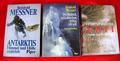 3 x Reinhold Messner - Konvolut Sammlung Bücher im Paket Yeti Bergsteiger Arktis