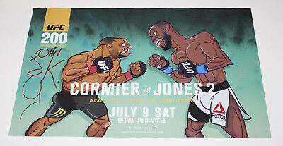 JOHN K SIGNED AUTHENTIC 'UFC 200' 12x18 PHOTO POSTER COA JOHN KRICFALUSI PROOF for sale  Utica