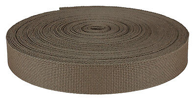 1 Inch Coyote Brown Medium Weight Nylon Webbing Closeout, 10
