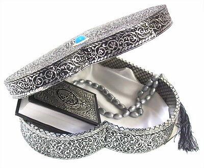 Quran Truhe Herz+Koran+Gebetskette Tesbih  *Allah Islam Muslim Abaya Takschita*