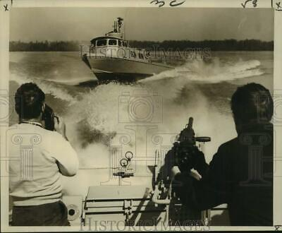 Used, 1966 Press Photo A Swift boat crosses in the Atchafalaya River near Berwick for sale  Shipping to South Africa
