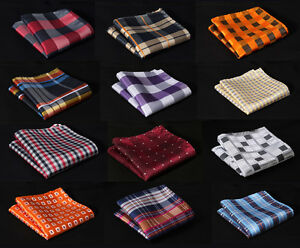 Check-Colors-Men-Silk-Satin-Handkerchief-Pocket-Square-Hanky-Wedding-Party