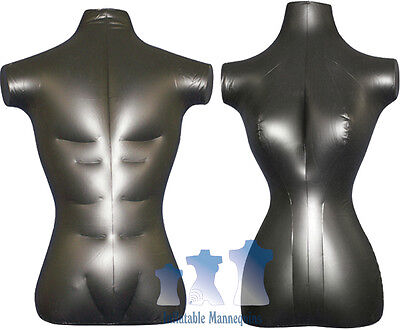 His Her Special - Inflatable Mannequin - Torso Forms Standard Size Black