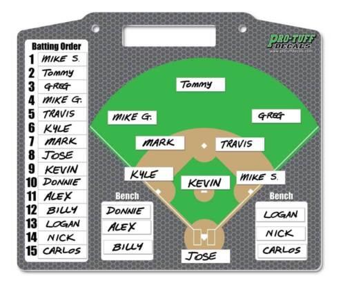 Baseball coaches board   lineup board   Softball coaches board   Magnet board