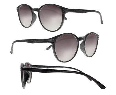 Retro TR90 Runde Holzmaserung optische getönte Linse UV Lesebrille Sonnenbrillen