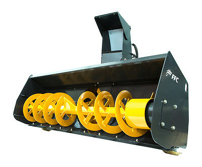 """FFC 72"""" Skid Steer Snow Blower Attachment Standard Flow 14-21 GPM"""